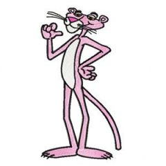 Pink Panther embroidery design