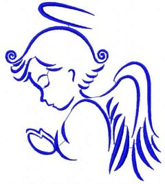 Praying Angel 6 embroidery design