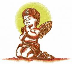 Praying angel 7 embroidery design