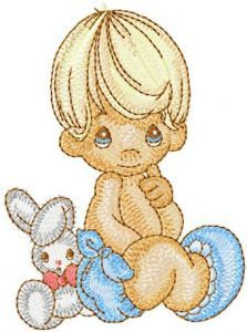 Boy with Toy embroidery design