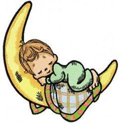 Sleeping Boy embroidery design