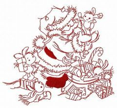 Presents for bunnies 3 embroidery design