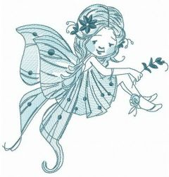 Pretty fairy embroidery design
