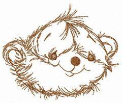 Pretty teddy bear embroidery design