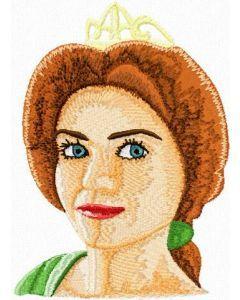 Princess Fiona embroidery design