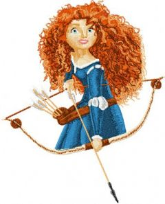 Brave Princess Merida embroidery design
