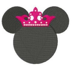 Princess Minnie embroidery design
