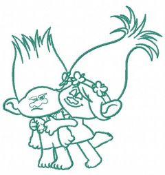 Princess Poppy and Branch 2 embroidery design
