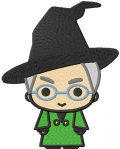 Professor McGonagall embroidery design