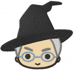 Professor McGonagall head embroidery design