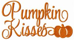 Pumpkin Kisses embroidery design