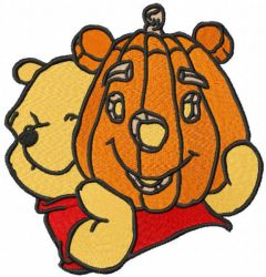 Pumpkin Pooh embroidery design