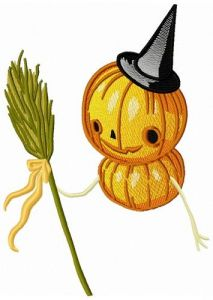 Pumpkin scarecrow 3 embroidery design