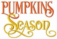 Pumpkin season embroidery design