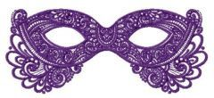 Purple mask embroidery design