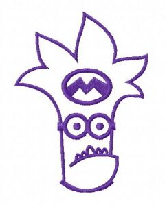 Purple Minion 6 embroidery design