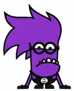 Purple Minion 7 embroidery design