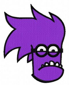 Purple Minion 8 embroidery design
