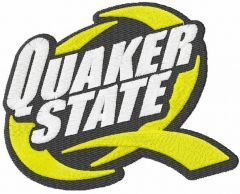 Quaker state logo embroidery design