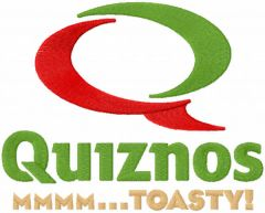 Quiznos mmmm toasty embroidery design