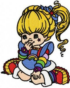 Rainbow Brite Dream embroidery design