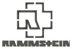 Rammstein alternative logo embroidery design