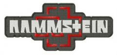 Rammstein logo embroidery design