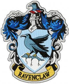 Ravenclaw emblem 2 embroidery design