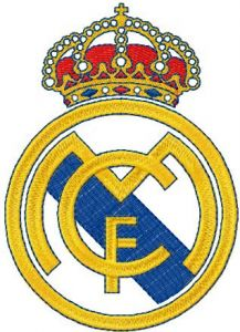 Real Madrid logo embroidery design