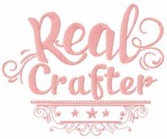 Real crafter embroidery design