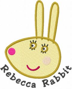 Rebecca Rabbit head embroidery design
