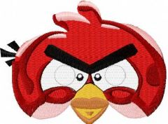 Angry Bird red 5 embroidery design