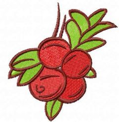 Red berries embroidery design
