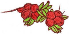 Red berries 2 embroidery design