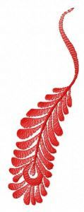 Red feather machine embroidery design