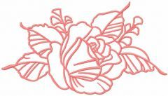 Red rose 20 embroidery design