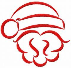 Red Santa embroidery design