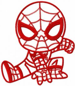 Red Spider boy embroidery design
