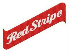 Red Stripe logo embroidery design
