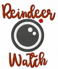 Reindeer watch embroidery design