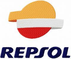 Repsol embroidery design