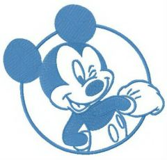 Resourceful Mickey embroidery design
