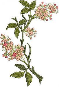 Retro Flowers 49 embroidery design