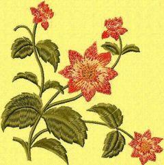 Retro Flowers 3 embroidery design