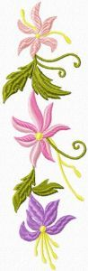 Retro Flowers embroidery design