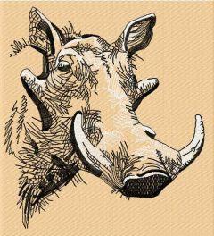 Wart Hogs sketch embroidery design