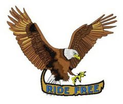 Ride free 2 embroidery design