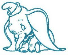 Ridiculed Dumbo embroidery design