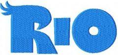 RIO Logo embroidery design
