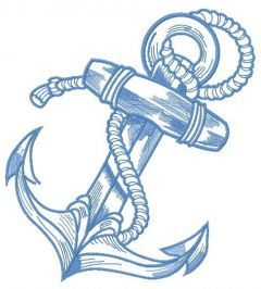 River anchor 2 embroidery design